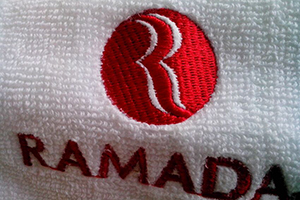 100% cotton hotel bath towel sets and bathrobes enjoyed by RAMADA guests