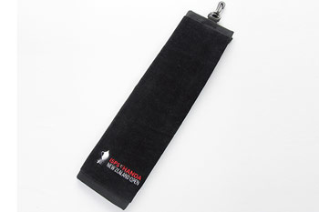 Hot sale Hook golf towel with embroidery design