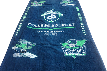100% Cotton reactive printing towel custom beach towel with velvet pile