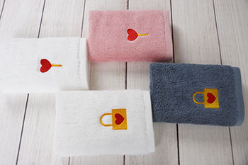 Face towel 30*30cm plain dyed small hand towel with custom logo