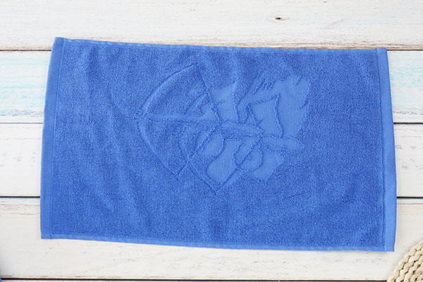 Soft textile cotton jacquard blue gym towel import towel factory