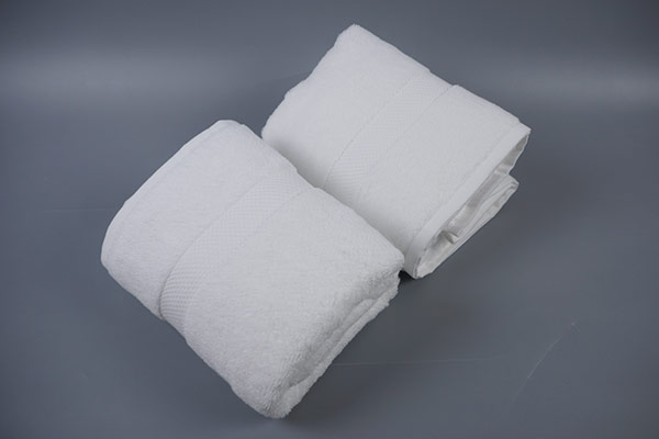 Pakistan cotton bath towels,plain white hotel towels with dobby