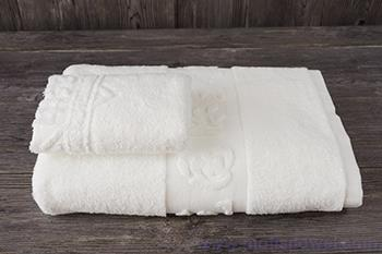 Wholesale cotton jacquard hotel towel and washcloth set