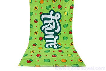 Magic fruits full color printed beach towel custom wholesale