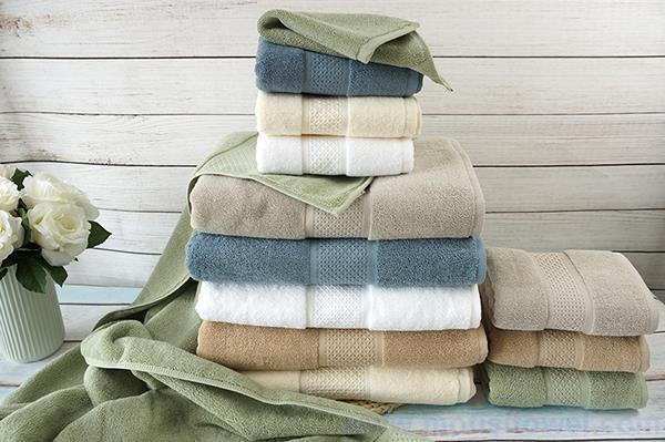 Gift towel supplier custom dobby towels set packing