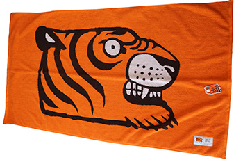 Promotional cotton beach towels, customised cartoon pattern