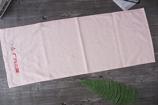 Customized extra long cotton sports and gym towel with logo