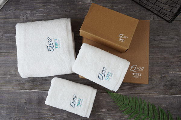 Custom 100 cotton terry towel roll with gift box packaging
