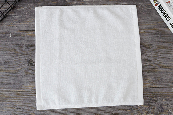 Mini cotton towel,cotton square face towels 30x30cm plain white