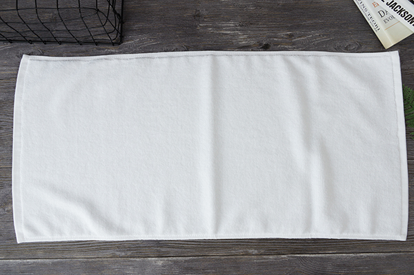 Customized medium size plain style 100 cotton white hand towels
