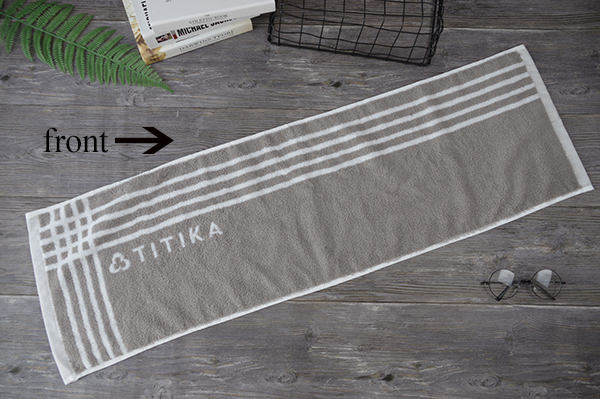 White and Grey fitness facial towel with customised logo