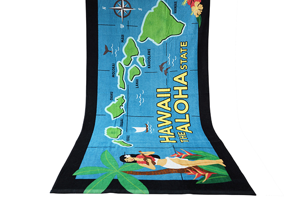 China manufacturer custom new design dyed printing 100 cotton beach towel
