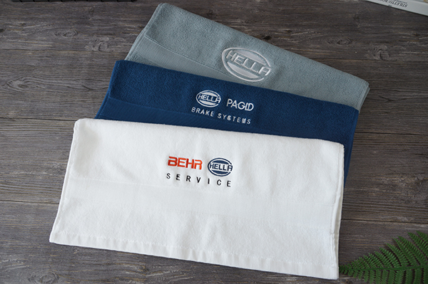 Multi-color gym towel set,dobby towel with embroidery logo