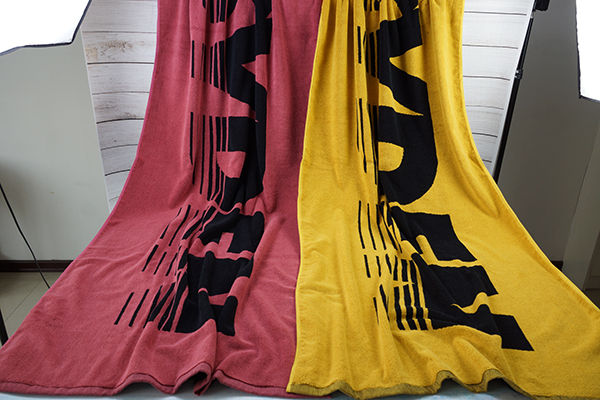 Two color style bath towel 80*160cm yarn dyed beach towel
