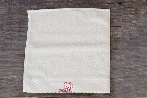 Small face towel dobby design custom 100% cotton material towels