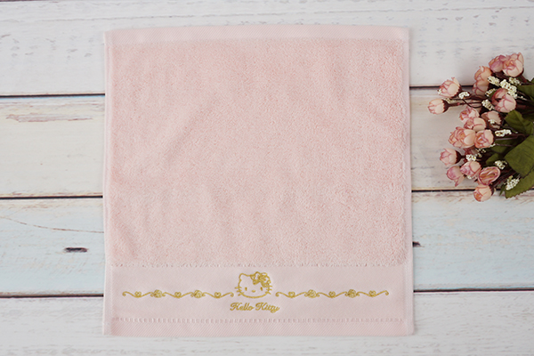 Hotel Towel Girl Pink Face Towel With Embroidery Cartoon Logo