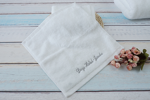 Wholesale cheap towel bathroom hotel white face towel