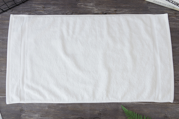 Cotton weave dobby towel, bleach safe white hand towel bath room