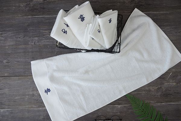 Hotel Hand Towel Bleach 100% Cotton Embroidery Logo