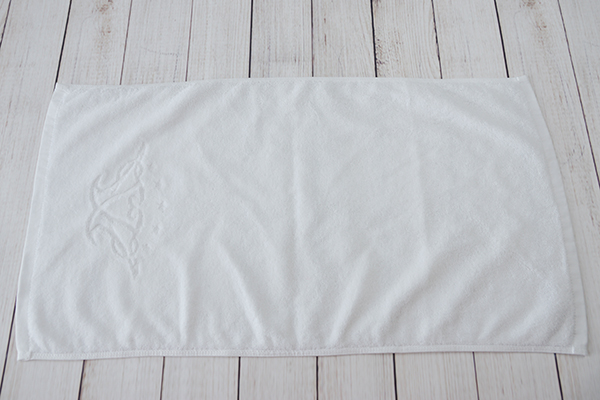 16s terry towel jacquard logo 100% cotton hand towel