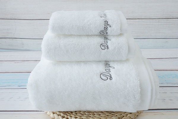 Plain white face,hand,bath towel with embroidery logo towel