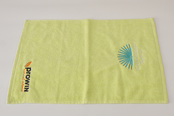Hand towels for salon,solid yellow towel with your design
