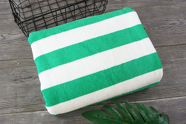 Eco Friendly Big Beach Towel 75*150cm Cotton Towel Stripe