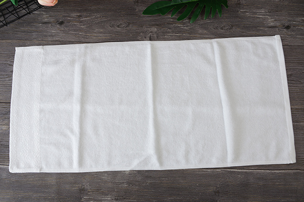 Dobby Hand Towel Customised Pure White Hotel Cotton Hand Towels