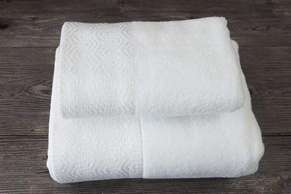 Hotel Towel Set 100% Cotton Custom Dobby Hand Bath Towel