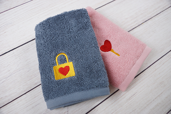 Fancy embroidery towel,fine towel wedding gift favor towel