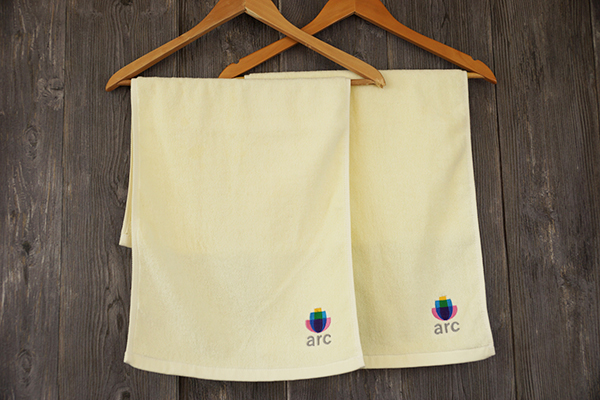 100% Cotton Towel Custom Plain Hand Towel with Embroidery Logo