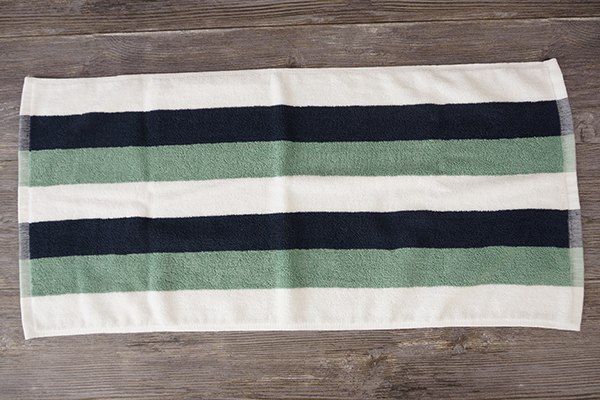 New design yarn dyed black striped hand towels on sale