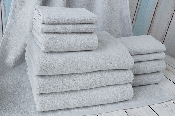 Factory Direct Wholesale Cotton Terry Grey Plain Gift Towel