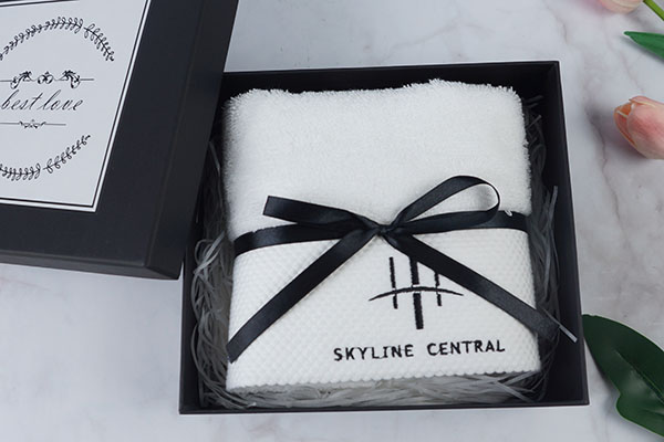Gift Hand Towel Sets with Gift Set Packaging Boxes