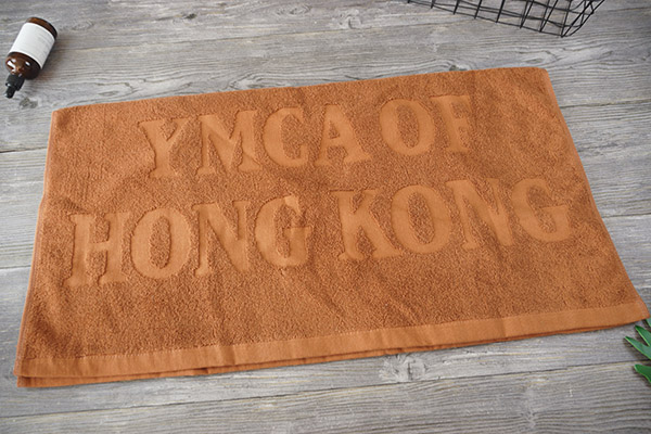 Large Bath Towel 80*160cm Customized Orange Jacquard Towels