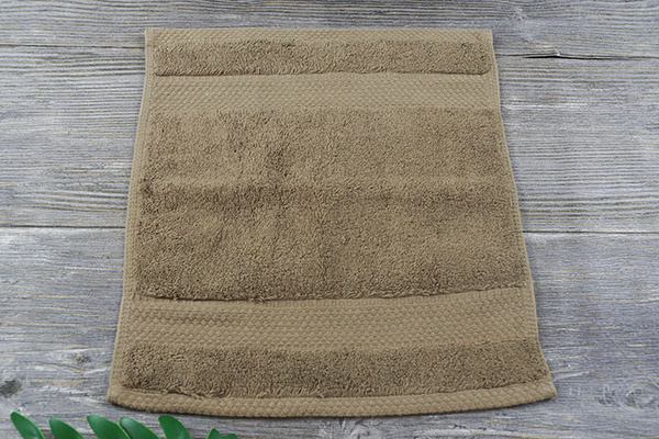 Wholesale Cheap Dobby Fancy Brown Small Terry Face Towel