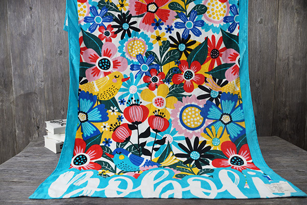 100% cotton reactive printing flower pattern beach towel