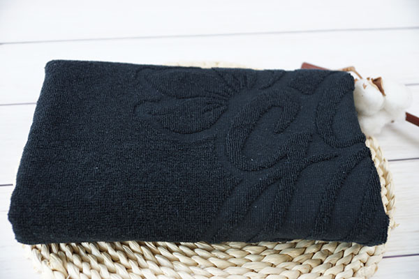 Plain towel 100% cotton promotional set black towels in gift pack