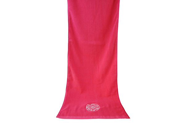 Wholesale 100% Cotton Red Gym Hand Towel Custom Embroidery Logo