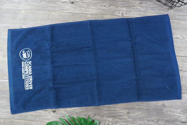 Plain Dyed 100% Cotton Embroidery Sports Towel for The Gym
