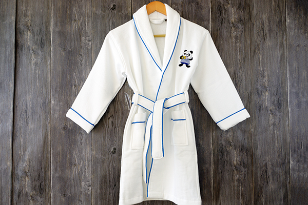 Customized Logo Children Soft 100 Cotton Bathrobe