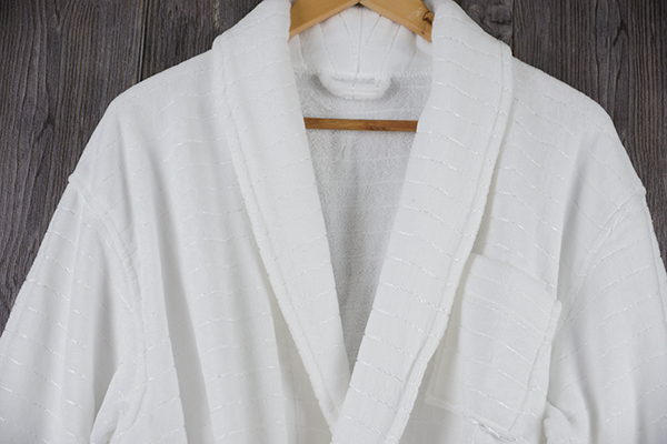 Wholesale star hotel luxury dobby bright silk cloth bathrobe