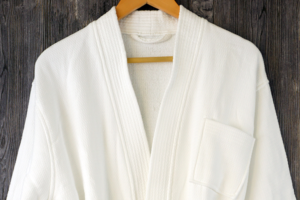 Hotel bathrobe Outside Waffle inside Terry 100% cotton robe
