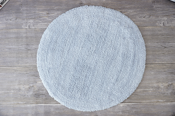 Wholesale Custom 100% Cotton Thick Grey Hotel Bath Rug