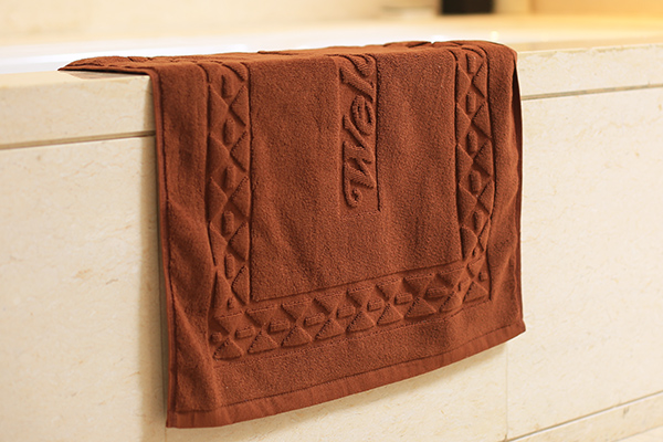 Hot sale 100% cotton wholesale jacquard hotel bath mat