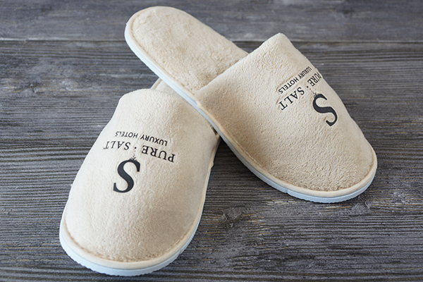 Luxury 5star Hotel Disposable Slipper with Custom Printed Logo