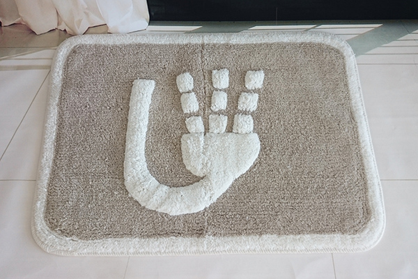 High quality hotel bath rug,anti-slip bath rug,cotton bath rug