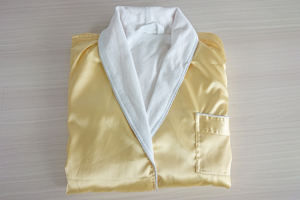 Wholesale faux silk satin bath robe / bathrobe hotel bathrobe