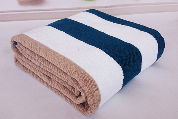 Yarn Dyed Three Color Stripe Pool Beach Towel Bath Towel