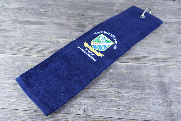 Wholesale terry velour soft golf towels plain dyed with clip